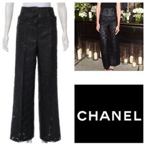 CHANEL High-Rise Camellia Pants